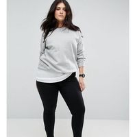 ankle length stretch skinny trousers with side pockets - black, Asos curve