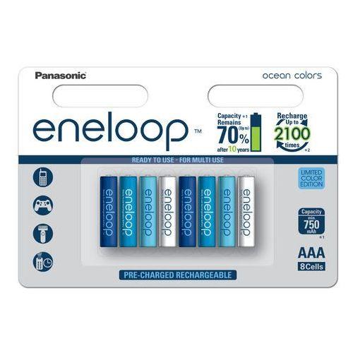 Panasonic 8 x akumulatorki eneloop ocean colors r03/aaa 800mah (blister)