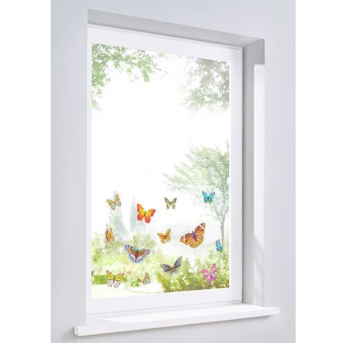 """Dekoracja na okno """"Motyle"""" (13 części) bonprix kolorowy"""