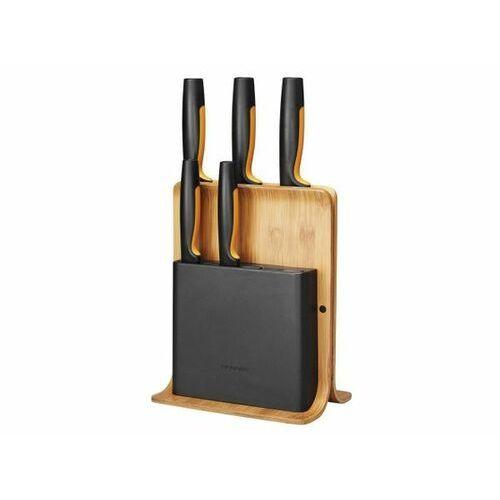 FISKARS Zestaw 5 noży w bloku bambusowym Functional Form (1057552)