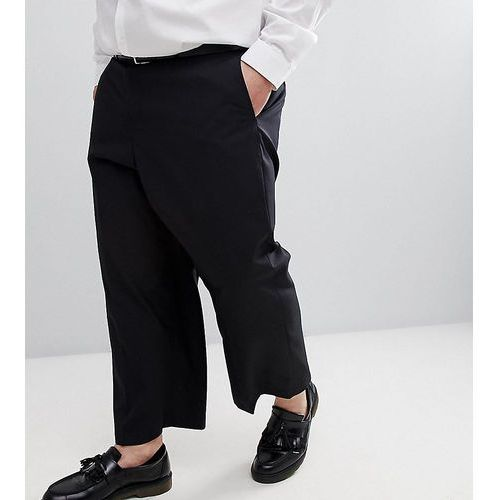 plus wide leg cropped suit trouser in black - black marki French connection