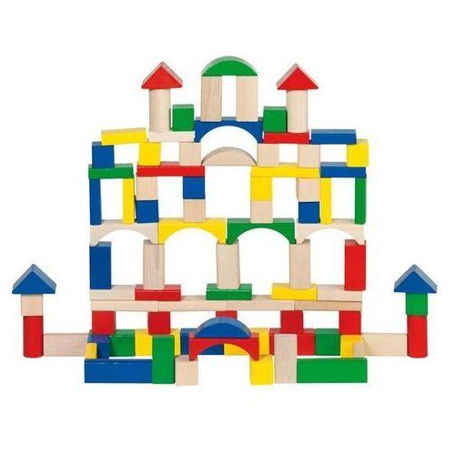 Klocki drewniane dla dzieci, 100 elementów - drewno
