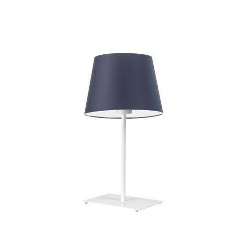 Lampka GENUA na stolik nocny szary melanż (tzw. beton), stal szczotkowana (+35 zł)