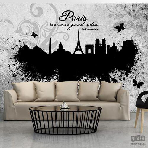 Fototapeta Paris is always a good idea - black and white 10110905-81