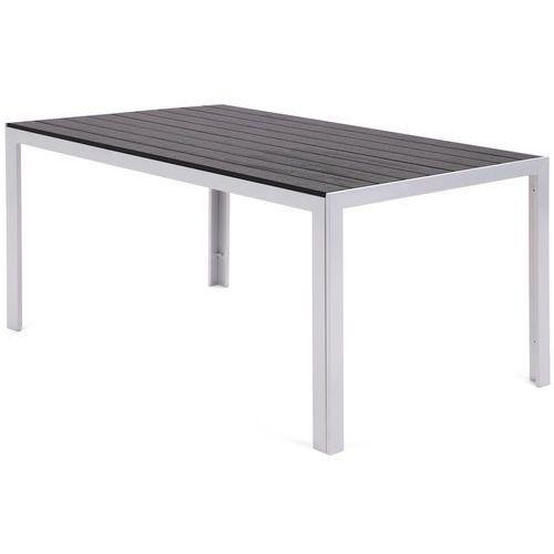 Stół ogrodowy aluminiowy Ibiza Silver / Black (5902425322765)