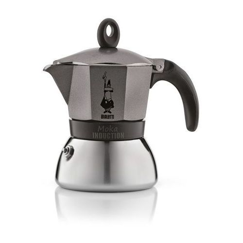 Bialetti kawiarka moka induction anthracite 3 filiżanki (8006363002790)