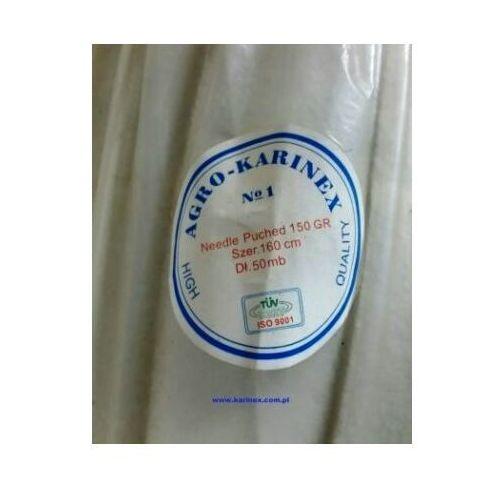 Geowłóknina 150 g/m2, biała 1,6 x 50 mb. rolka. marki Agrokarinex