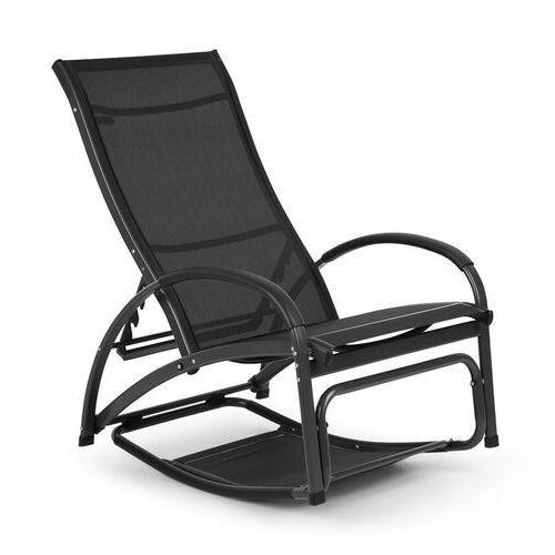 beverly wood leżak fotel bujany aluminium, czarny marki Blumfeldt