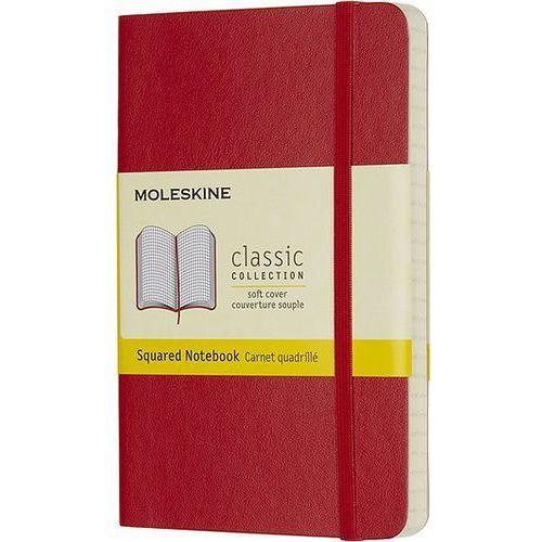 Notes Moleskine w miękkiej oprawie kieszonkowy czerwony w kratkę