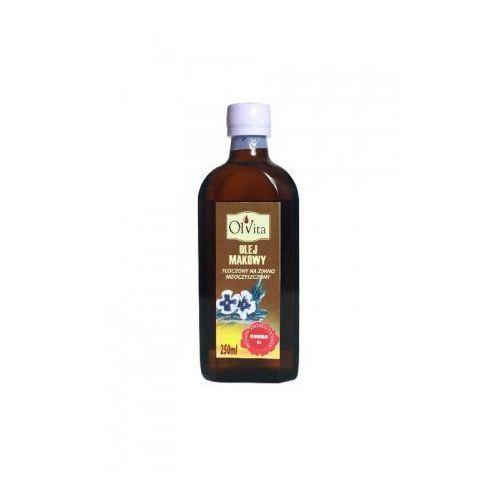 Olej makowy tłoczony na zimno nieoczyszczony 250ml
