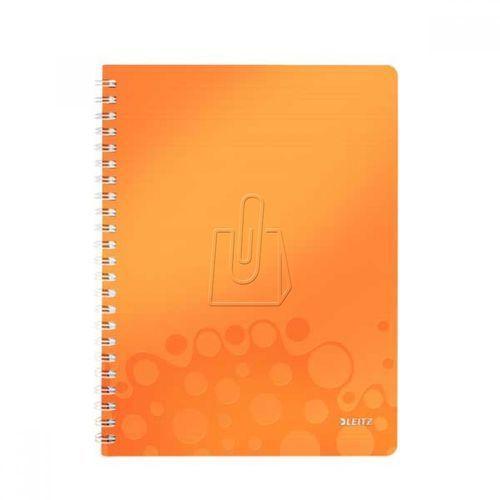 Kołonotatnik wow pp a4 80 kratka pomarańczowy 46380044 marki Leitz