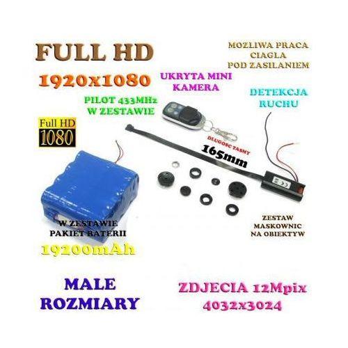 Mikro-Kamera HD/Full HD Nagrywająca Obraz/Dźwięk + Maskownice (45-dni Pracy!) + Detekcja Ruchu..., 590779339130