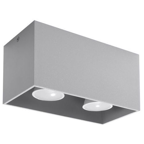 Spot plafon Sollux Quad Maxi SL.0382 oprawa sufitowa 2x40W GU10 szary, kolor Szary
