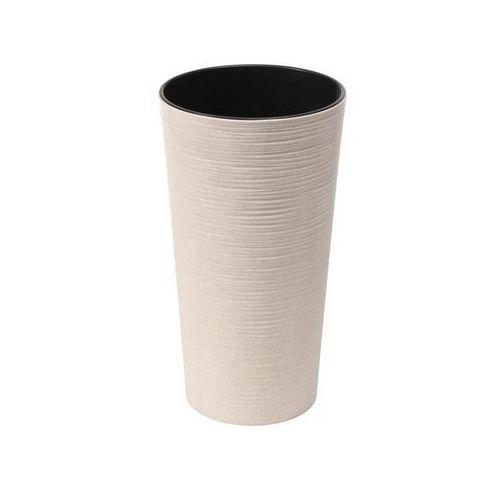 Doniczka plastikowa 19 cm biała LILIA DŁUTO (5900119058396)