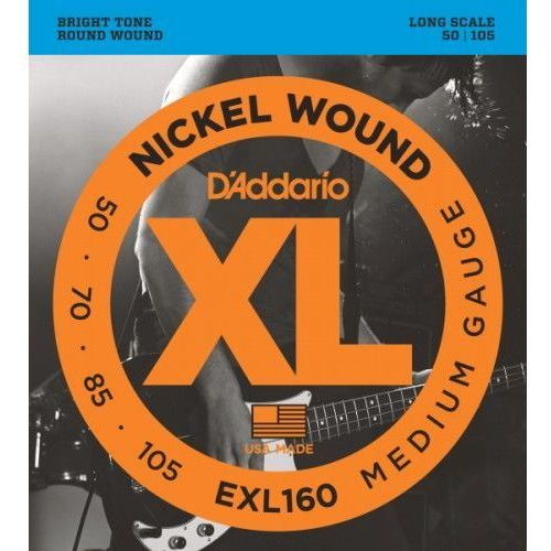 D'ADDARIO EXL160 STRUNY DO GITARY BASOWEJ 050-105
