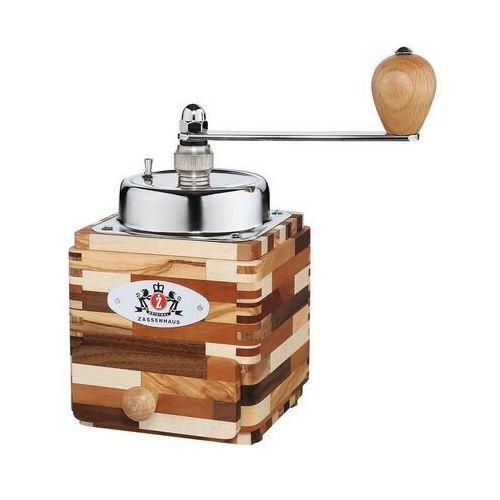 Zassenhaus - montevideo - młynek do kawy z korbką - 18×10×10 cm - drewno mieszane i stal (4006528040258)