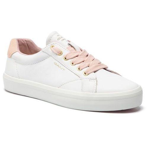 Sneakersy - baltimore 18531441 bright wht/sil.pink g283 marki Gant