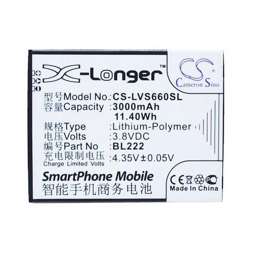 Lenovo S660 / BL222 3000mAh 11.40Wh Li-Polymer 3.8V (Cameron Sino), CS-LVS660SL