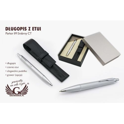 Długopis PARKER IM srebrny CT z etui - PAR062-SW7