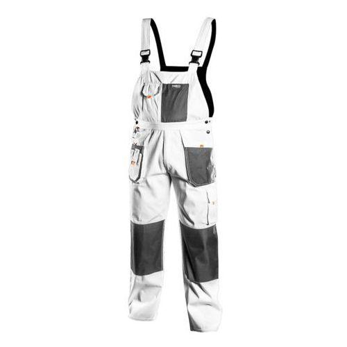 NEO 81-140-XL Spodnie robocze na szelkach, białe, HD, rozmiar XL
