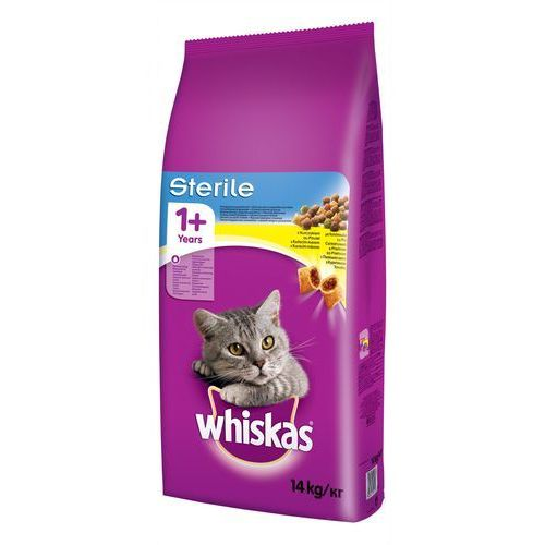 Whiskas sterile sucha karma dla kota 2x14kg