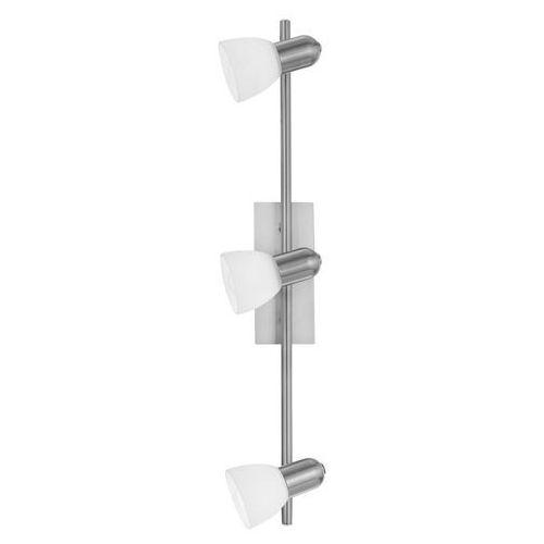 Listwa Eglo Ares 1 86215 lampa sufitowa plafon spot 3x40W E14 nikiel/mat, kolor nikiel