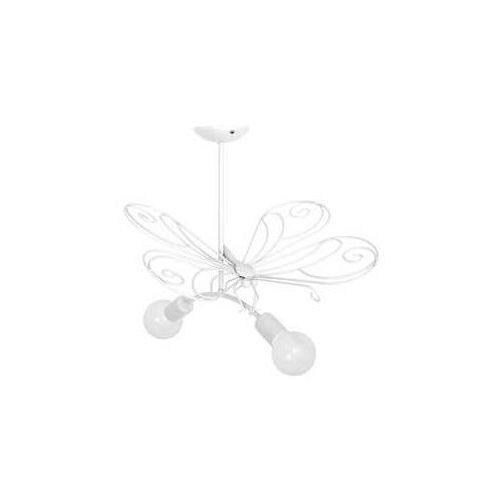 Luminex Lampa wisząca zwis motyl 2x60w e27 biały 5332