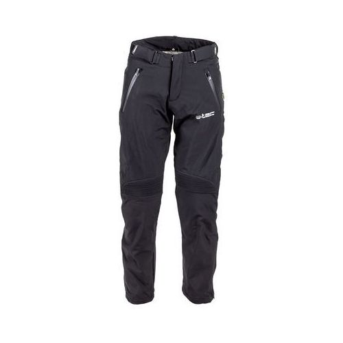 Męskie spodnie motocyklowe soft-shell guslic nf-2801, czarny, l marki W-tec