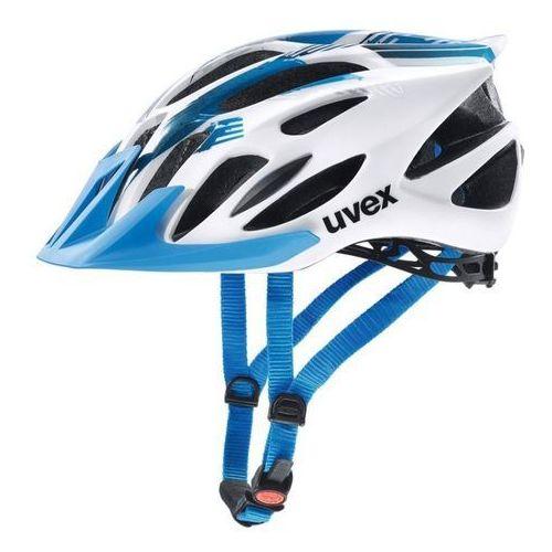 Kask rowerowy flash m 53-56 cm biały/niebieski marki Uvex