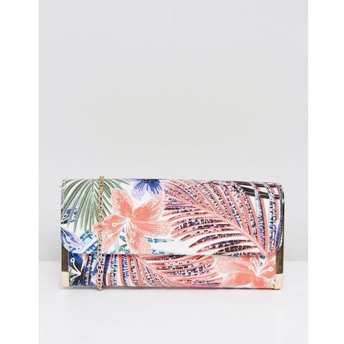 New Look Palm Leaf Clutch Bag - Black
