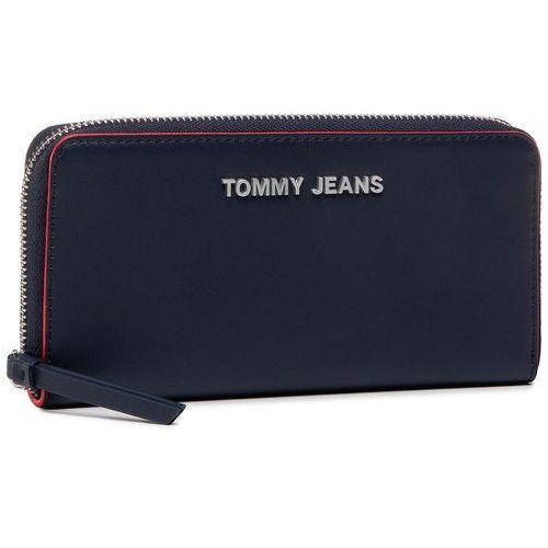 Duży portfel damski - tjw femme large z/a wallet aw0aw08247 0f4 marki Tommy jeans