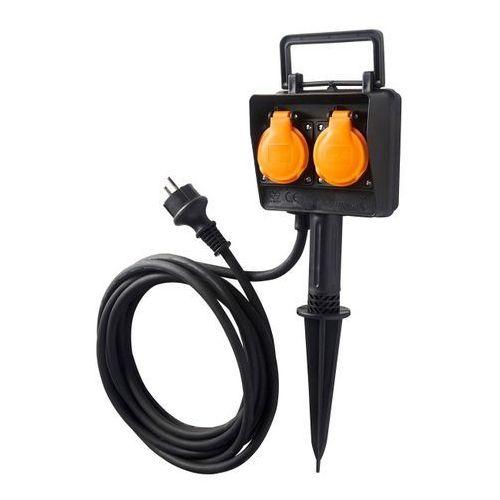 Diall Przedłużacz ogrodowy wtykany 3 x 1,5 mm2 5 m (3663602737780)