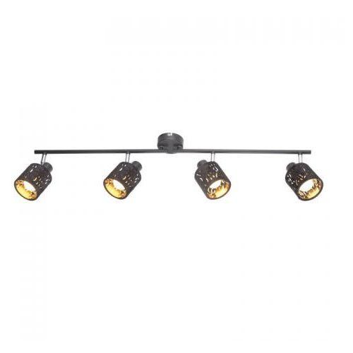 Listwa Globo Troy 54121-4 lampa sufitowa spot 4x8W E14 czarny