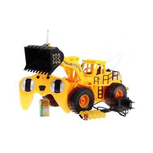 Brother toys Duży zdalnie sterowany spychacz/buldożer + pilot radiowy.