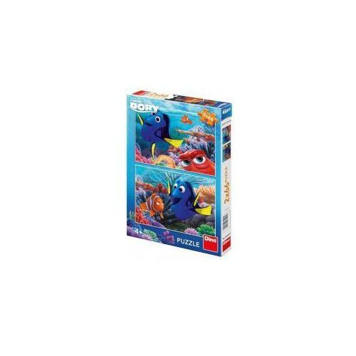 Dino toys Puzzle 2x66 dory między koralowcami dino (8590878385184)