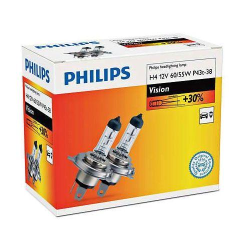 żarówki samochodowe vision h4, 12 v, 60/55 w (2 szt.) marki Philips