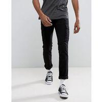 slim cargo trousers in black - black marki New look