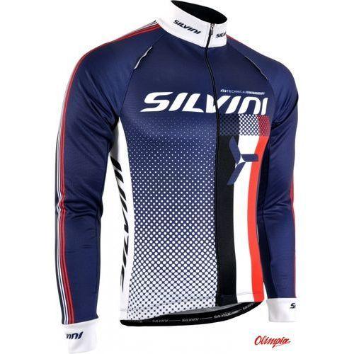 Koszulka ocieplana męska SILVINI TEAM MD833 navy