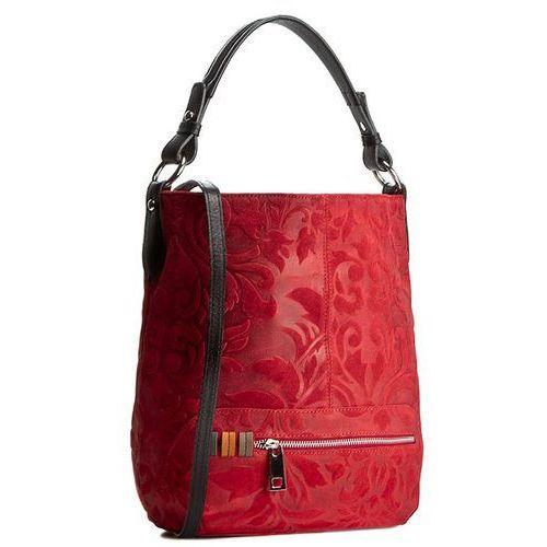 Torebka CREOLE - RBI10131 Czerwony Wzór/Czarny, kolor czerwony