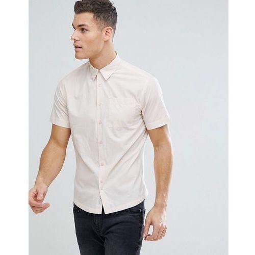 Bellfield Short Sleeve Shirt In Pale Pink - Pink, 1 rozmiar