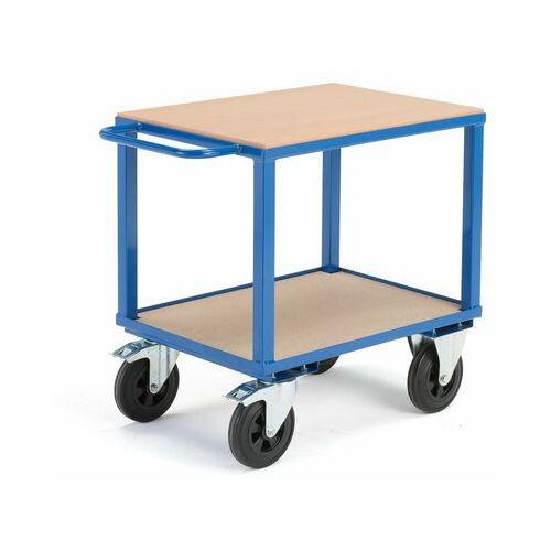 Wózek warsztatowy, z hamulcami, 2 koła skrętne, 600 kg, 800x600x830 mm, 30113