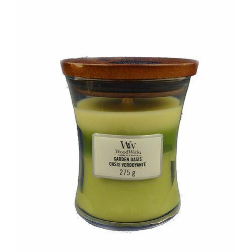 WoodWick - Garden Oasis - potrójna świeca zapachowa - ogrodowy gabinet (czas palenia: do 100 godzin), 92962