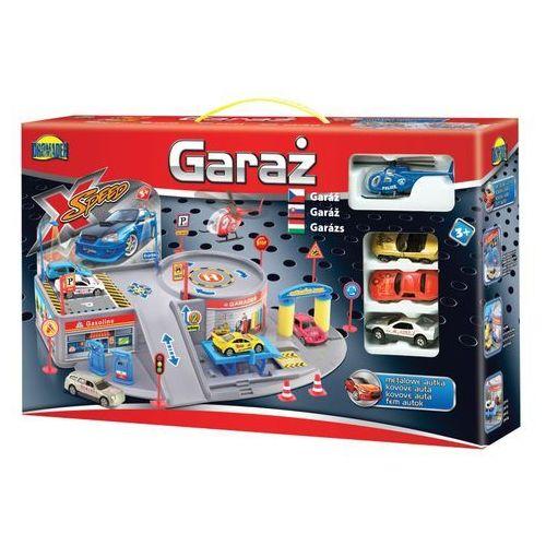 Dromader Garaż mały + 4 pojazdy (5900360006504)