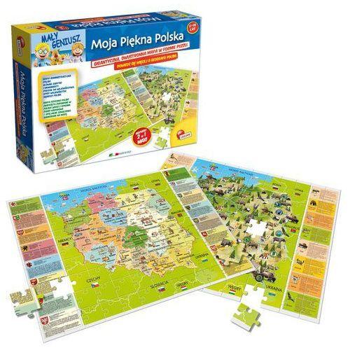 Puzzle mały geniusz moja piękna polska 108 marki Lisciani