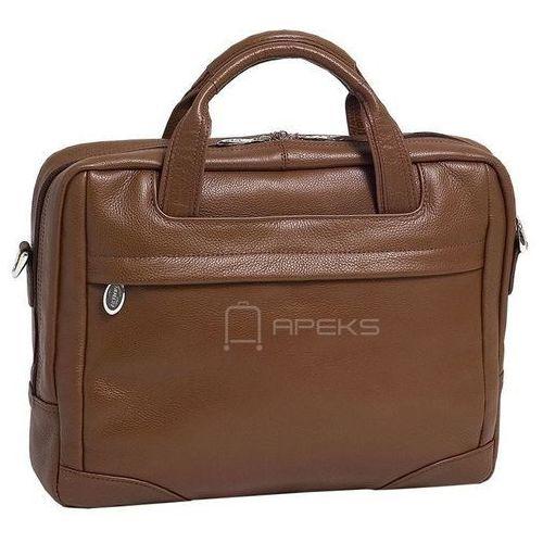 """Mcklein bridgeport skórzana torba na laptopa 17"""" - brązowy"""