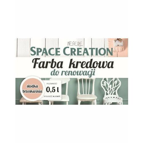 Space creation farby - space creation farba kredowa - słodka brzoskwinia 0,5l
