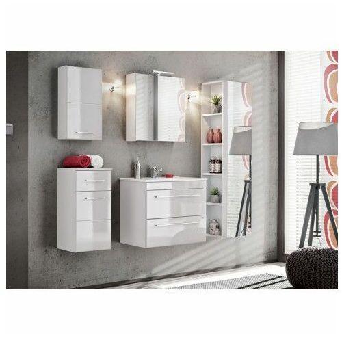 Komplet szafek łazienkowych - Malaga 2Q Biały połysk
