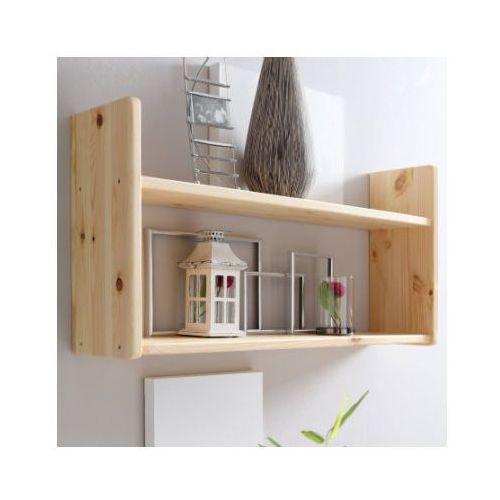 Ticaa regał ścienny, drewno sosnowe, kolor naturalny, dwie półeczki, szeroki marki Ticaa kindermöbel