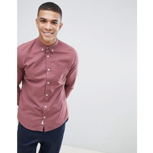 regular fit oxford shirt in dark pink - pink marki Burton menswear