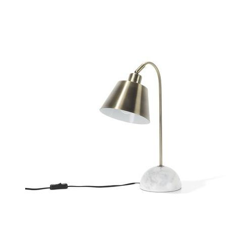 Lampka stołowa mosiężna tara marki Beliani